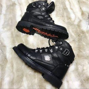 Harley Davidson ester riding combat boots black 8